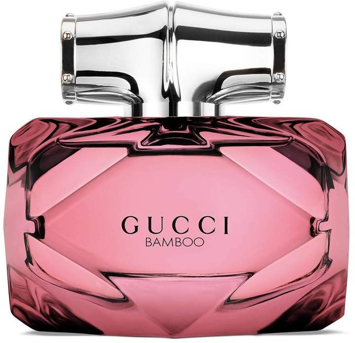 Gucci Bamboo Limited Edition 50ml eau de parfum!! Alessandro Michele recasts the Gucci Bamboo fragrance with a limited edition design and jewel tone tint. Soft yet intense, the scent blooms with notes of exotic Casablanca lily and Tahitian vanilla, balanced with sandalwood and grey amber.