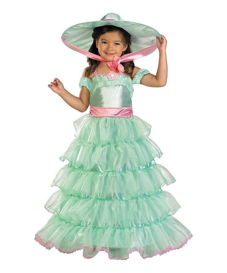 Take a look at this Green & Pink Southern Belle Dress-Up Set - Kids today!