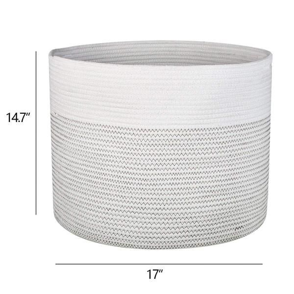 Laundry Hamper Xl Soft Cotton Storage Basket For Nursery Bins