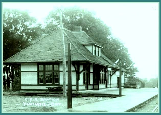 Newcastle, Ontario  =  CPR Railway station old - edited