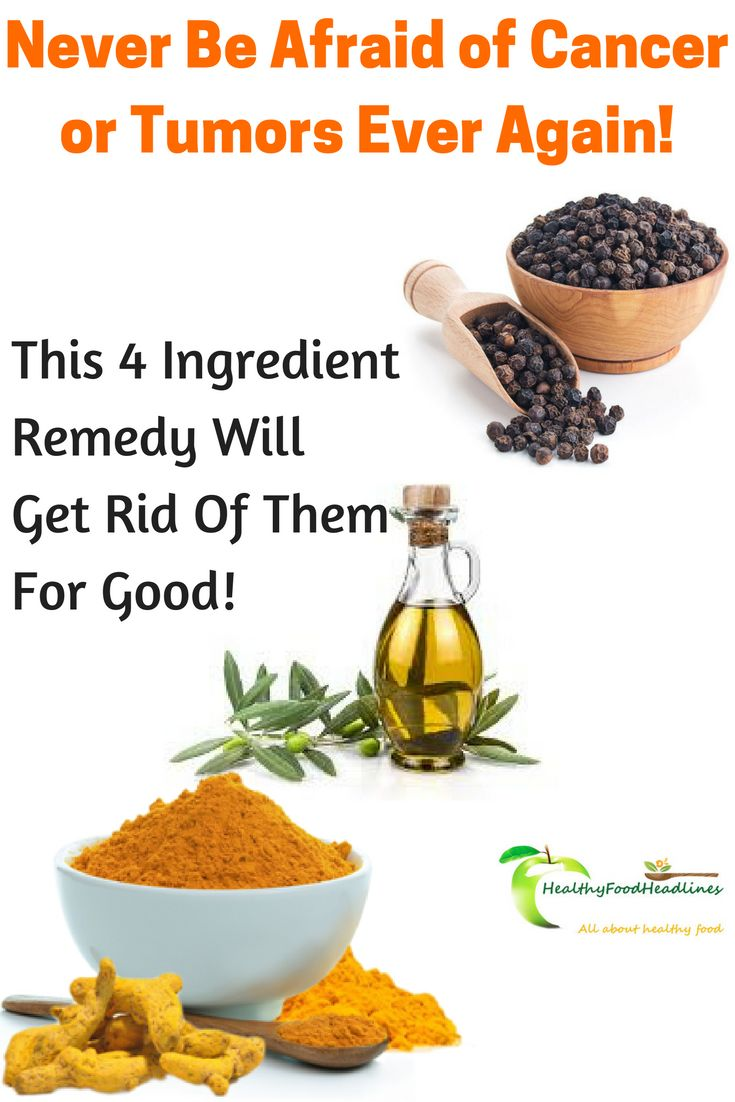 Never Be Afraid of Cancer or Tumors Ever Again! This 4 Ingredient Remedy Will Get Rid Of Them For Good!