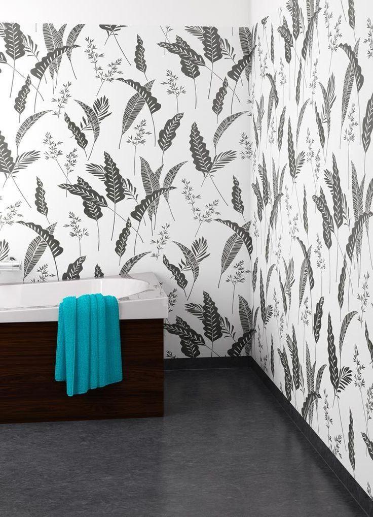"""Plastgolv Forbo Våtrumsgolv Aqualon Pacific 4859, Bredd 2 m Pris från 185,00kr/m² ( inkl. moms & frakt* ). Kollektionens våtrumsgolv är designade för att du enkelt ska kunna matcha din vägg, oavsett mönster och färg. Välj mellan sobert enfärgade golv, två blommiga alternativ, mosaik- och stenmönster samt ett exotiskt """"träslag"""". Vill du ha ett stegsäkert golv utan halkrisk väljer du Safestep grip istället."""