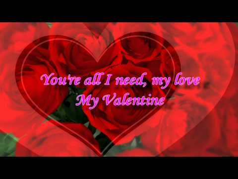 valentine with lyrics