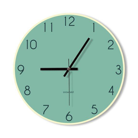 Horloge de cuisine moderne horloge design moderne rouge - Pendule cuisine moderne ...