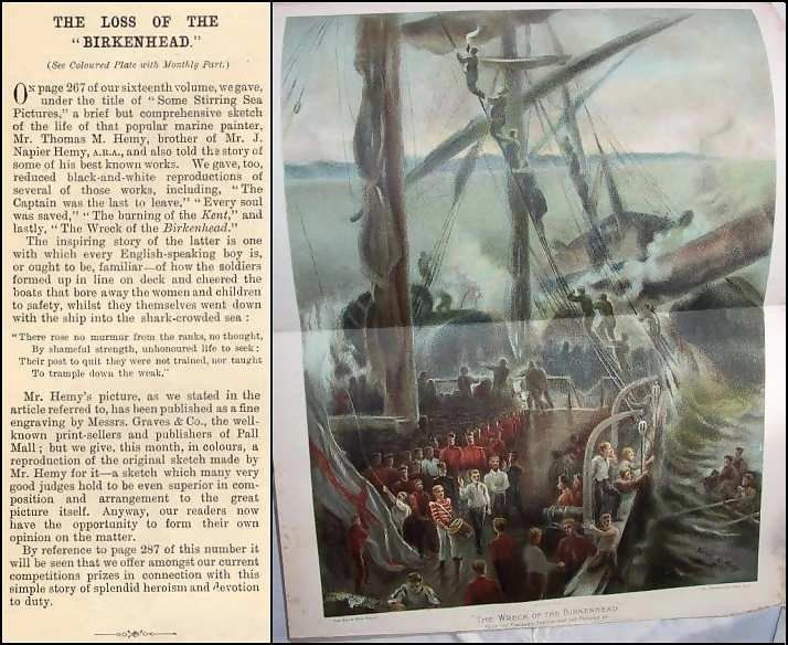 original sketch re wreck of the birkenhead 1889 painting by thomas mm hemy-hemymultiple