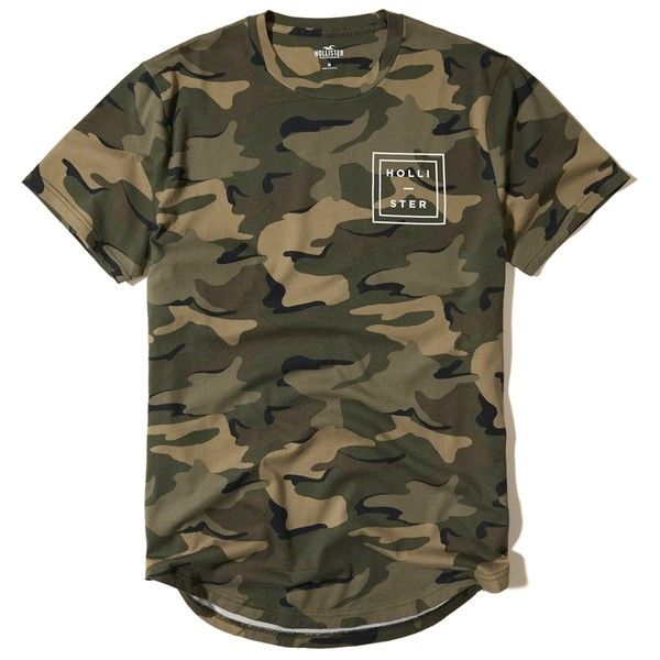 Hollister Camo Logo Graphic Tee (€16) ❤ liked on Polyvore featuring men's fashion, men's clothing, men's shirts, men's t-shirts, tops, olive pattern, mens print shirts, olive green mens shirt, mens patterned t shirts and mens camo t shirt