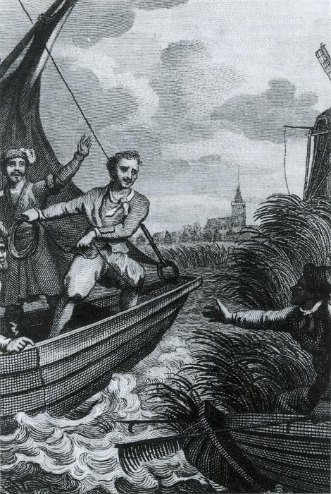 'Peter de Grote komt op 18 augustus 1697 in Zaandam aan'.