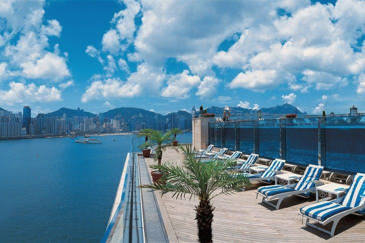 Harbour Grand Kowloon seethrough rooftop pool