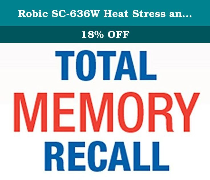 Robic SC-636W Heat Stress and Comfort Level Stopwatch, Blue. How warm is it? How warm or cold does it feel. The Robic SC-636W removes the guessing and replaces it with accurate and responsive Heat Index readings, quickly and easily available at a glance. Protect your athletes and participants from over exposure to the elements by monitoring the Heat Index and Dew point with this reliable and easy to use stopwatch.