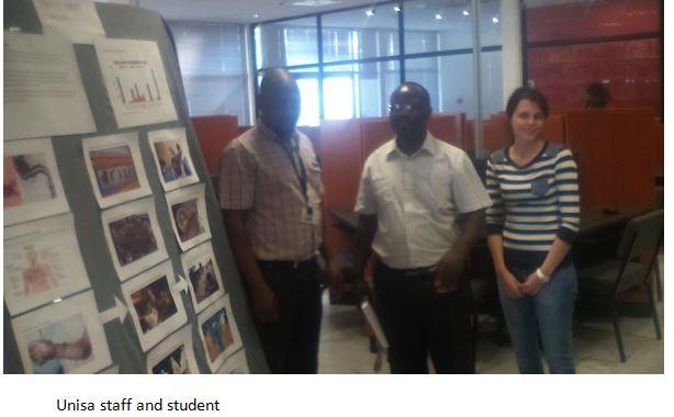 Unisa Library Rustenburg Branch - Ebola Display