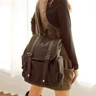 Buy 'Fashion Lady – Faux Leather Trim Backpack' at YesStyle.com plus more Taiwan items and get Free International Shipping on qualifying orders.