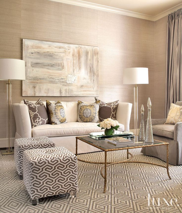 Charmant In The Formal Living Room, Designer Laurie Pearson Paired A Custom Sofa  Upholstered In Linen
