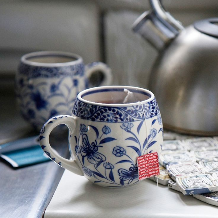 Toasty Morning Mug, $18 — Hand-painted by artisans in the traditional ceramic village of Bat Trang, Vietnam, a village just outside of Hanoi that is known for its traditional ceramics.  #FairTrade #MothersDayGift