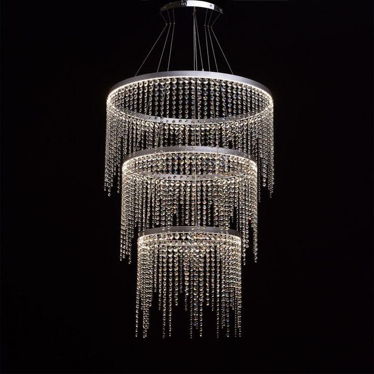 Moderne LED Hängeleuchte Kristall Kaskade 3-flammig RegenBogen 617010403