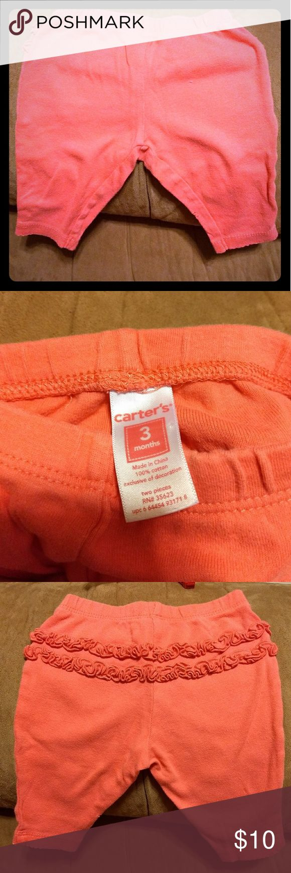Peach colored little girl's pants. Soft and comfy peach little girl's pants with ruffles on the back. Great condition and from smoke free home. 11 By Boris Bidjan Saberi Bottoms Sweatpants & Joggers