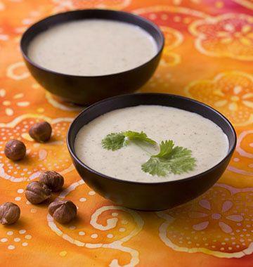 Velouté de pâtisson aux noisettes - les meilleures recettes de cuisine d'Ôdélices