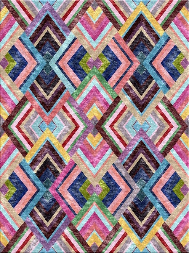Illulian, Woodstock | Illulian new rugs to be exhibited at @MaisonObjet | Bold colors and geometric patterns - living room rugs