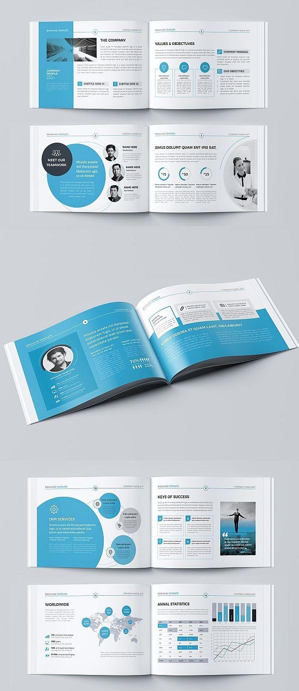 A5 Landscape Co Brochure Corporate Brochure Design Brochure Inspiration Booklet Design Layout