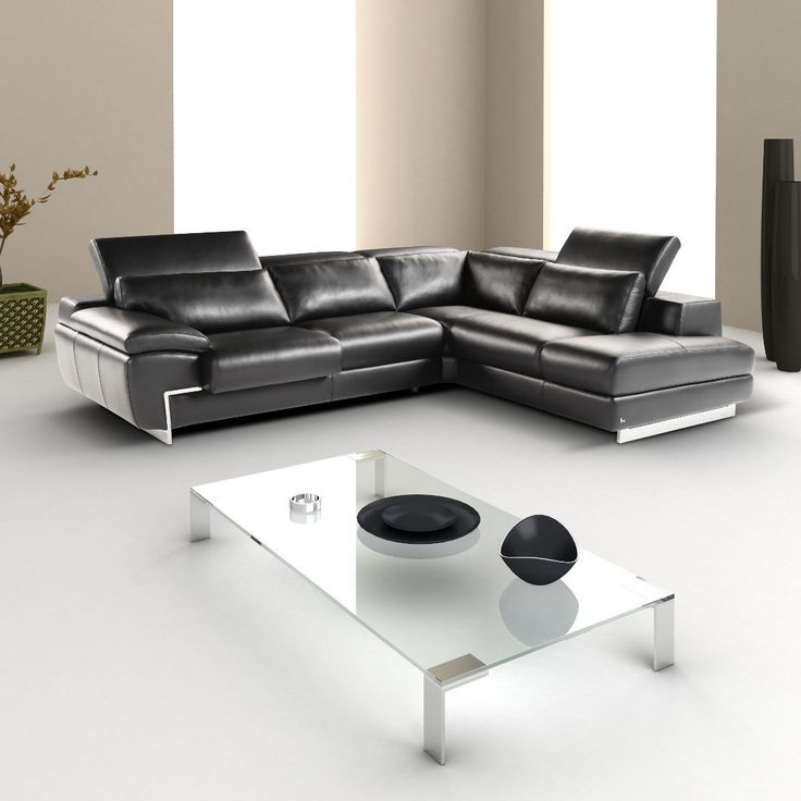 Italian Leather Sectional Set By Nicoletti Italia
