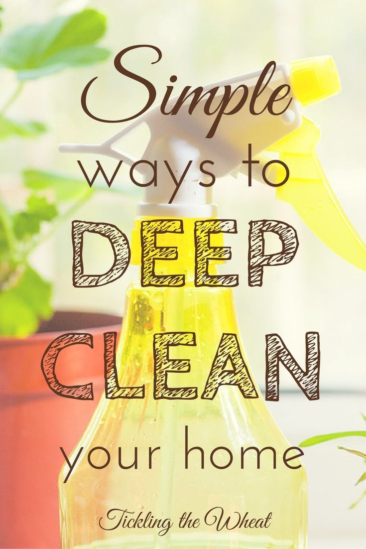 Deep clean your home with these easy to follow tips (and a printable cleaning schedule). This is perfect to get ready for spring cleaning or the holidays.