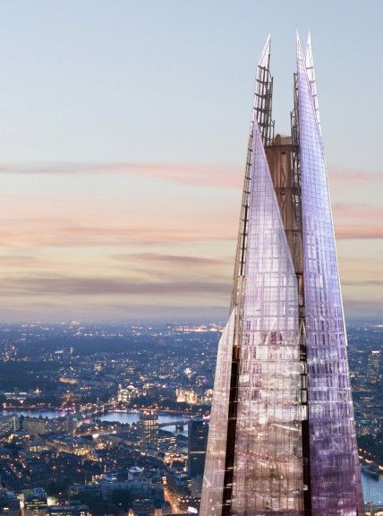 The top of London's newest skyscraper-the Shard in London Bridge