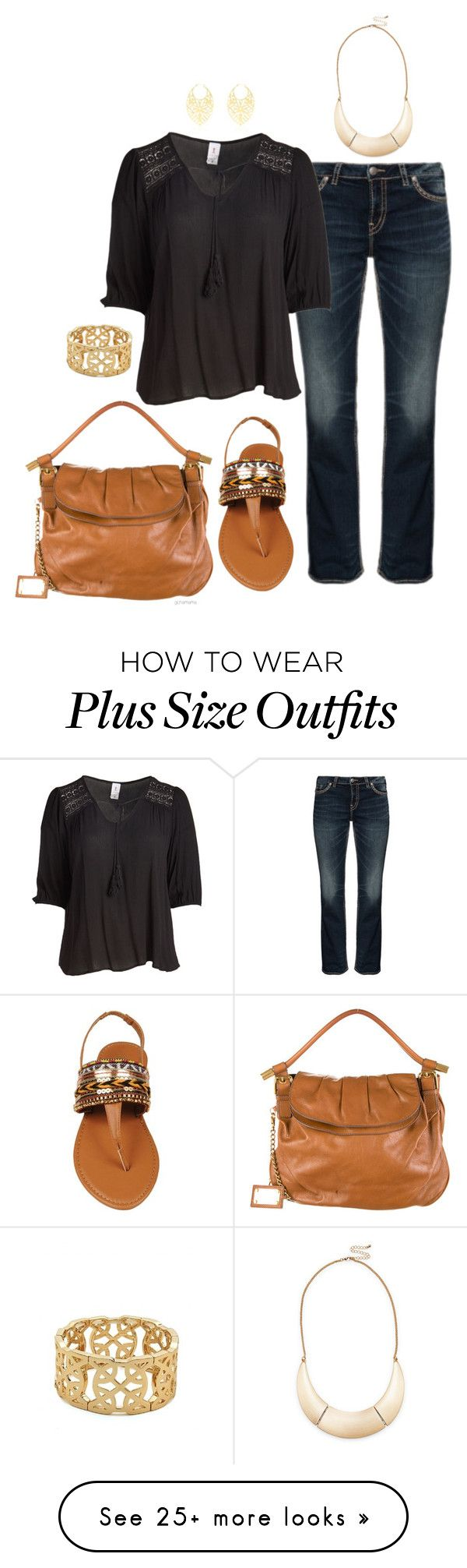 """""""Tribal feel- plus size"""" by gchamama on Polyvore featuring Silver Jeans Co., Libian, Dolce&Gabbana, Vélizance and Sole Society"""
