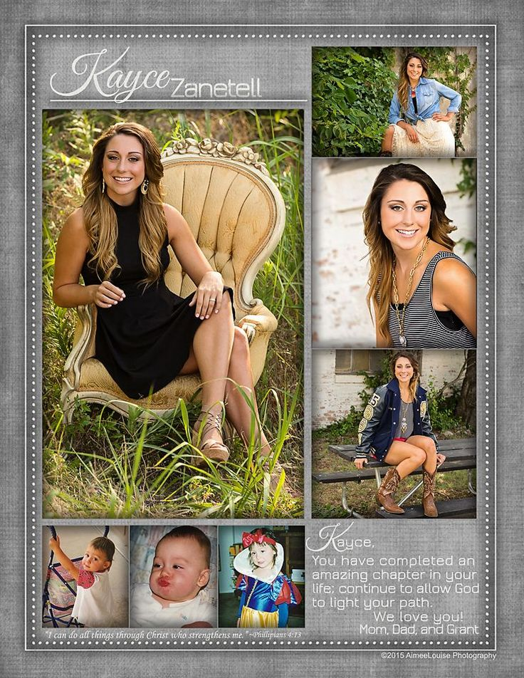 AimeeLouise Photography: Class of 2015 Senior Tribute Pages {McKinney Senior Photography}