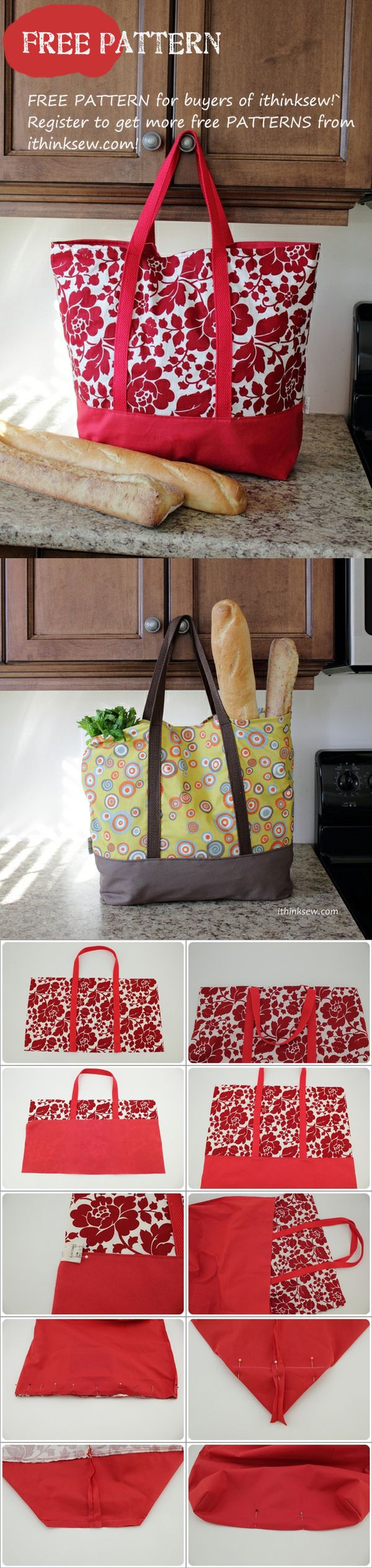 Free Patterns for buyers - Martha Market Bag...Im going to try some oilcloth for a cooler type bag.