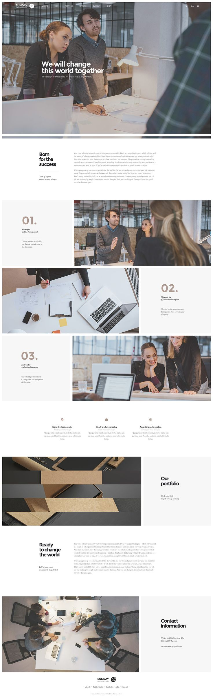 Highly flexible and clean designed multiconcept theme for WordPress. Comes with WooCommerce, bbPress, BuddyPress and WPML support.