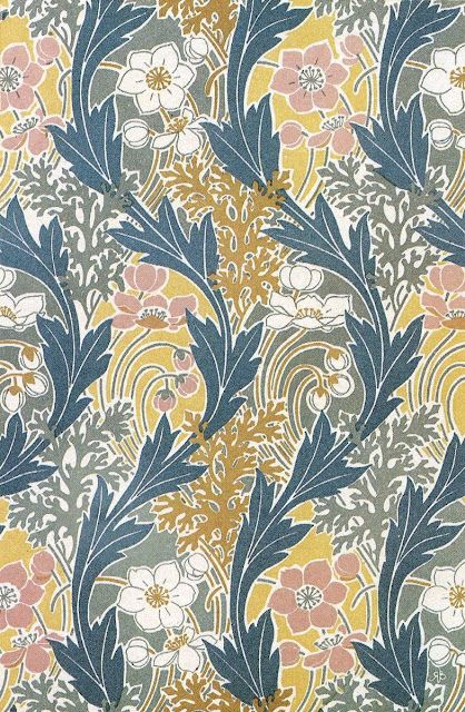 More art nouveau pattern designs by René Beauclair