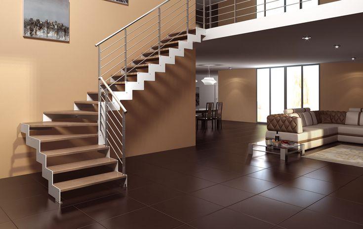 Scale a giorno, scale per interni, scale di legno massiccio, scale a giorno in…  Salendo quei ...