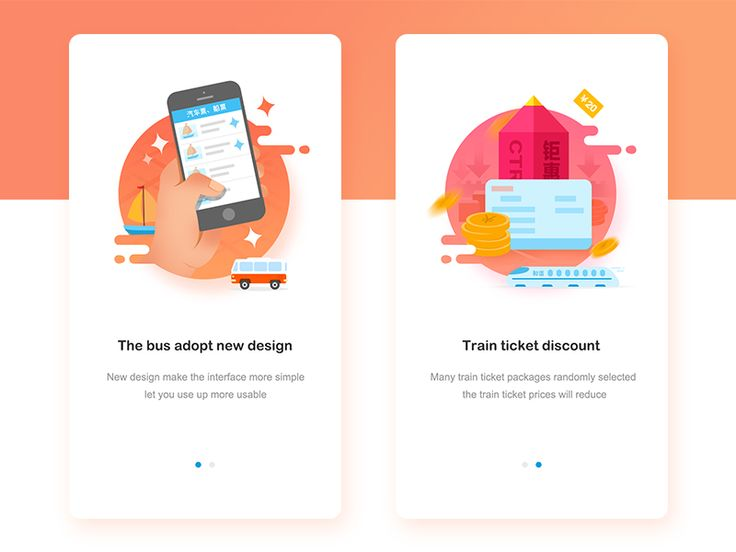 The Ctrip APP Guide page design by Dan1