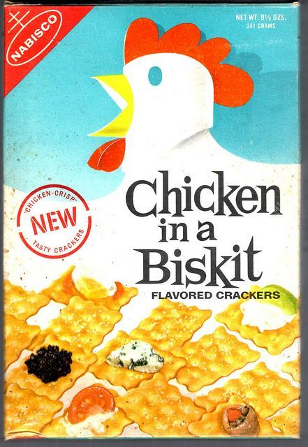 Does anyone remember these crackers? Chicken In The Basket...