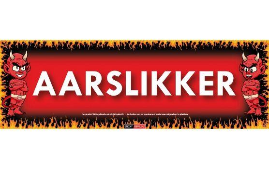 Sticky Devil Aarslikker  Sticky Devil sticker met de tekst aarslikker. De Sticky Devil met de tekst: aarslikker kun je overal op plakken. Het formaat van deze Sticky Devil is c.a. 196 cm lang en 65 cm breed.  EUR 0.50  Meer informatie  #sinterklaas #zwartepiet