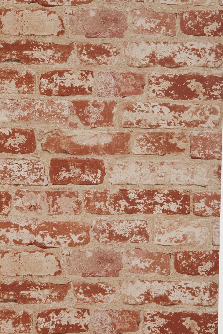 Brick Trompe L'Oeil Wallpaper. If you aren't lucky enough to have an exposed brick wall, why not fake it?