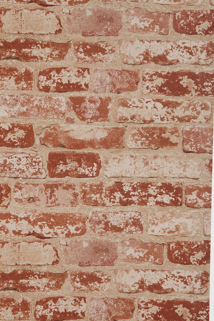 Brick Trompe L'Oeil Wallpaper - Urban Outfitters