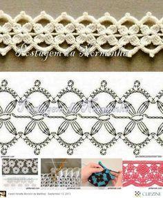 flowers pattern crochet
