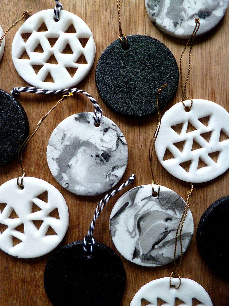 Pate créative, marbrage et DIY de Noel / DIY Clay Ornaments, Christmas DIY and marble DIY