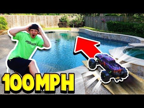 100MPH RC CAR vs MY POOL! - YouTube | unspeakable | Rc cars