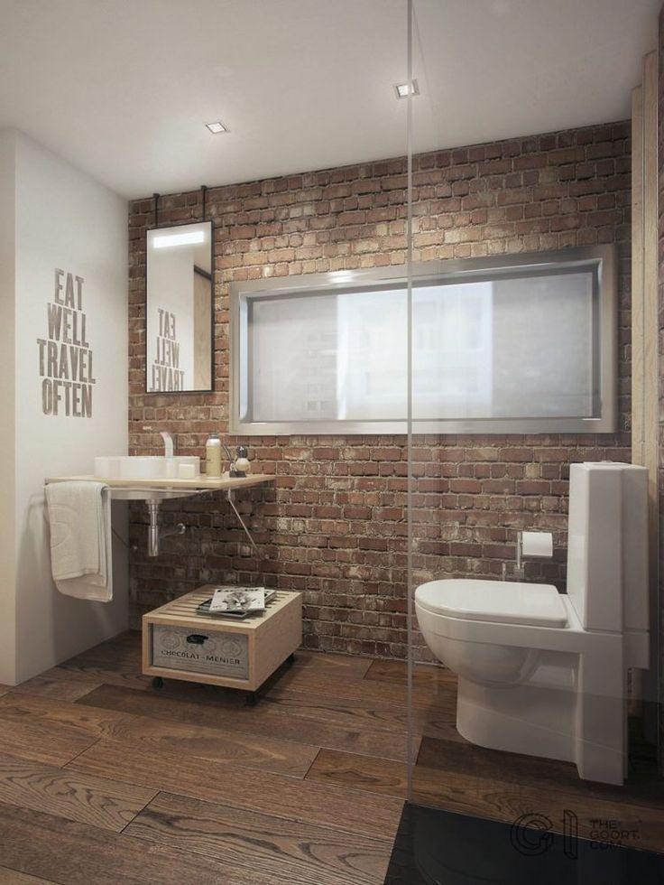 Kis lakás egy régi téglaépületben - kevés bútor, sok funkció, nagy belmagasság, 35.7m2