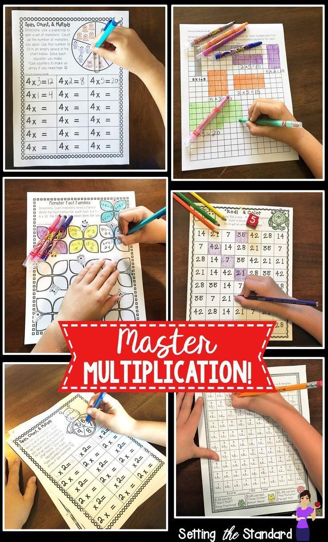 Help your students master the multiplication facts of 2-10.  Includes multiplication worksheets, multiplication games, and multiplication activities.  Students will work on arrays, number bonds, commutative order, multiplication timed tests, & more!
