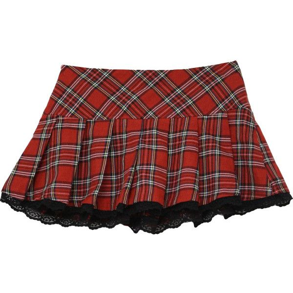 1980's Vintage Forever 21 Plaid Mini Skirt: 80s style (made in 90s)... ($1.55) ❤ liked on Polyvore