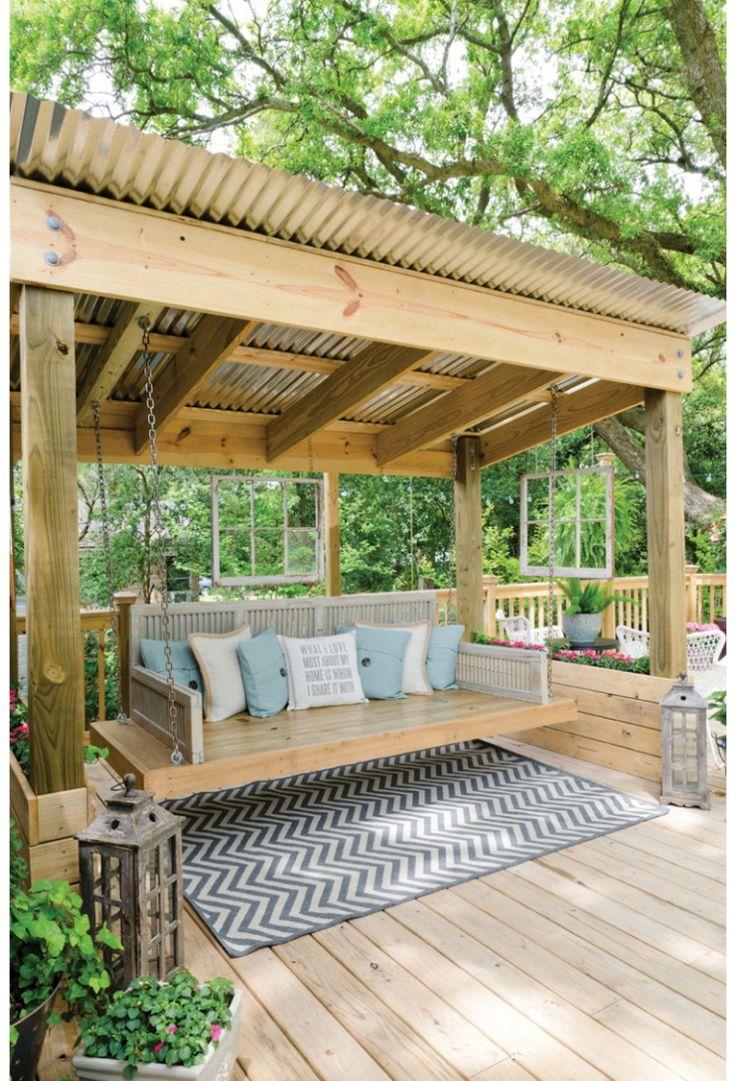 25 beste idee n over pergola schommel op pinterest tuinschommel pergola en tuin hangmat for Bedek zijn pergola