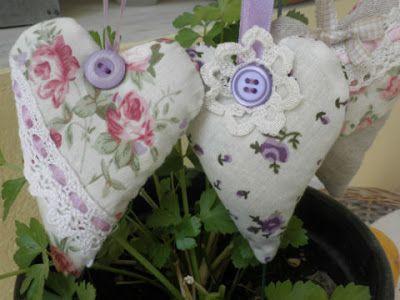 χειροποίητες δημιουργίες: καρδιές με άρωμα λεβάντας