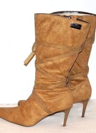 À vendre sur #vintedfrance ! http://www.vinted.fr/chaussures-femmes/bottes-and-bottines/28499433-bottes-la-city-camel-mi-mollet