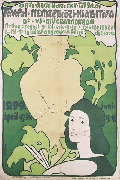 International Spring Art Exhibition (Hungarian title: Az Országos Magyar Képzőművészeti Társulat Tavaszi Nemzetközi Kiállítása az új Műcsarnokban). Artist: Vaszary, János, 1899