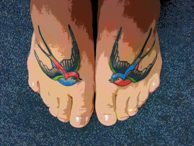 #sparrow #foot #tattoo
