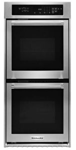 """KODC304ESS KitchenAid 24"""" Double Wall Oven with True Convection - Stainless Steel"""
