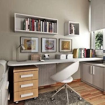 Neutral colors for work and homework station