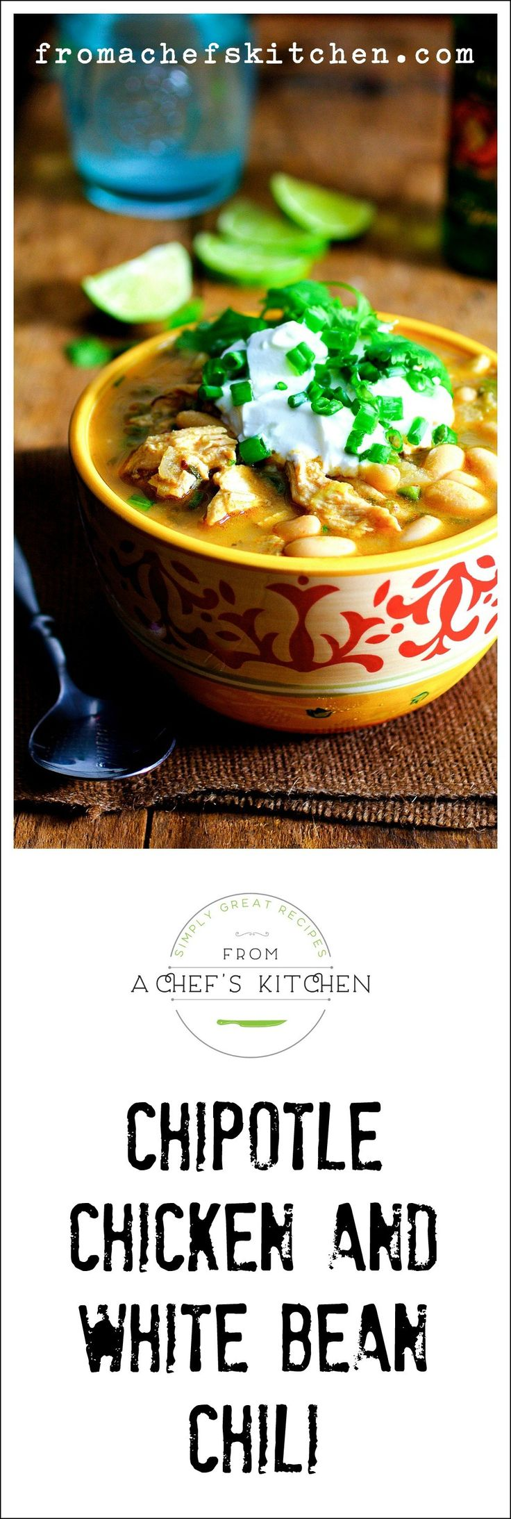 Chipotle Chicken and White Bean Chili is low on labor and high on flavor! (Chicken Chili Gluten Free)